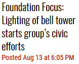 "Rocky Fork Enterprise: ""Lighting of bell tower starts group's civic efforts"""